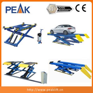Hydraulic Synchronization Clearfloor Double Columns Automobile Elevator (211CH) pictures & photos