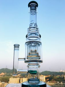 Huge Smoking Pipe Three Layers Glass Water Pipe Quality Dabbing Pipe Enjoylife Hbking Glass Hookah pictures & photos