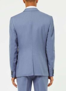Blue Bespoke Fitted Dinner Wedding Suit for Men pictures & photos