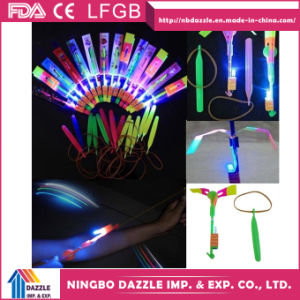 Funny LED Light Arrow Rocket Helicopter Flying Toy pictures & photos