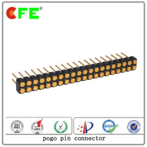 Double Row 40pin Female Bending Electrical Pogo Pin Connector pictures & photos