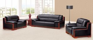 Italy Design Classic Wooden Office Furniture Leather Office Sofa (NS-E217) pictures & photos