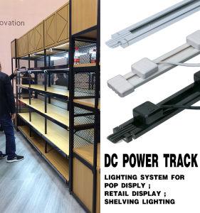 Black Power Track Lighting System for Goods Shelve Lighting pictures & photos
