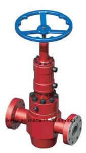 API 6A Hydraulic Gate Valve W/Manual Locking Used in Oil Field pictures & photos