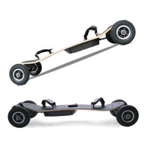 Belt Motor off Road Four Wheel Remote Control Electric Skateboard pictures & photos