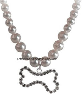 Pearl Necklace with Crystal Bone Charm, Dog Nacktie pictures & photos