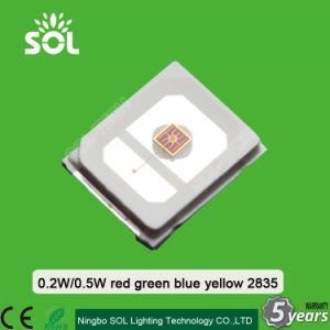 0.2W 2835 SMD LED Red Color 620-630nm 1500mcd