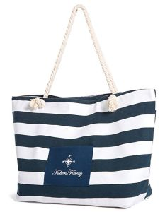 Promotion Custom Canvas Stripe Shopping Tote Hand Bag pictures & photos