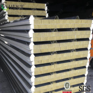 High Quality Rock Wool Insulation Steel Sandwich Panel pictures & photos