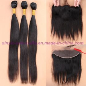 8A Full Frontal Lace Closure 13X4 with Bundles Straight Brazilian Virgin Hair with Closure Cheap Ear to Ear Lace Frontal Closure