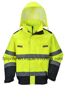 Winter Reflective Workwear High Visibility Safety Jacket pictures & photos