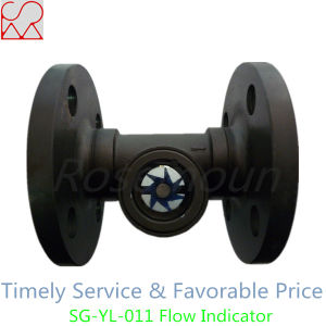 Carbon Steel Flange Visual Water Sight Flow Indicator Flow Meter pictures & photos