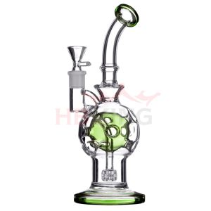 Hollow Honeycomb Base Beaker Percolator Faberge Egg Rig Skull Shape Glass Smoking Water Pipe pictures & photos