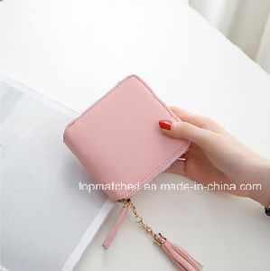 Wholesale Cell Phone Wallet Small Shopper Leather Wallet Purse pictures & photos