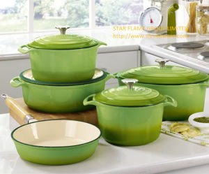 Enamel Cast Iron Cookware Set.