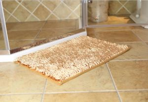 Shiny Chenille  High Pile Bathroom Door Mat with Anti Slip Base pictures & photos