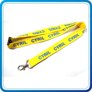 900*25mm Polyester Custom Color Metal Hook Lanyard with Plastic Buckle pictures & photos