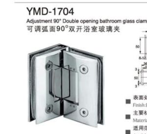 Frameless Shower Accessories Stainless Steel Glass Door Semi-Circinal Glass Clamp pictures & photos