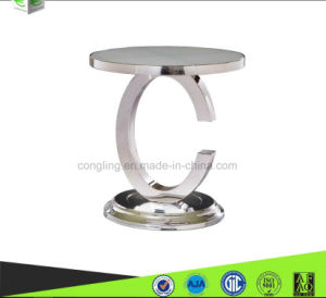 C Sharp Design White Glass Side Table