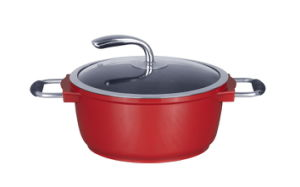 Casting Aluminum Sauce Pot with Fashionable Handle pictures & photos