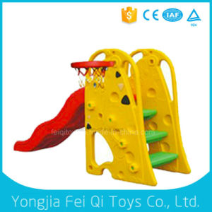 Top Quality Factory Price Plastic Parts Tube Slide with Basketball Hoop Stand with Ball pictures & photos