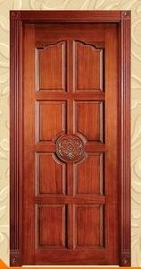 Well-Made Engraving Solid Wood Door Acceptable Price pictures & photos
