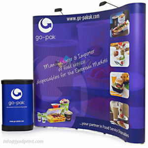 Custom Printed Pop Up Backdrop& 2 Lights+Podium Display For Exibition Tradeshow pictures & photos