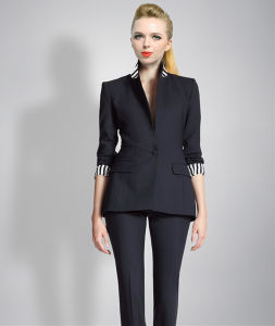 Fashion Ladies Blazers One Button Black Blazers for Women
