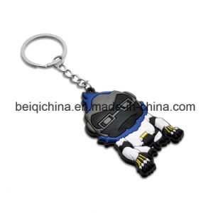 Wholesale New Products Custom Design Shape Silicon Keychain pictures & photos