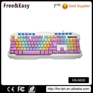 Wired USB Multimedia Colorful Key Keyboard pictures & photos