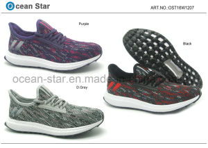 Flyknit New Design Elastic Collar Confort Sports Shoes pictures & photos