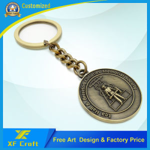 Manufacturer Custom Metal Enamel Key Chain /Promotion Key Ring Holder with Any Logo (XF-KC09) pictures & photos