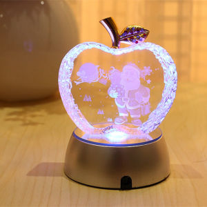 Colors Crystal Glass Apple for Christmas Gift pictures & photos