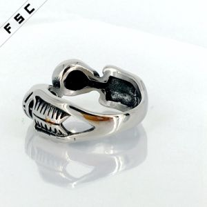 Newest Design Health Stainless Steel Skull Ring for Unisex pictures & photos