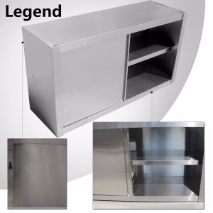 Heavy Duty Stainless Steel Wall Cabinet with Two Sliding Doors pictures & photos
