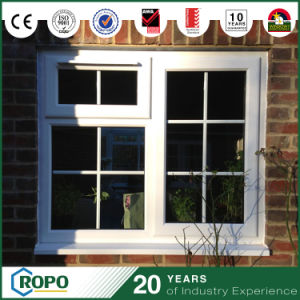 PVC Plastic Hurricane Impact Latest Design Fixed Window with Georgian Bars pictures & photos