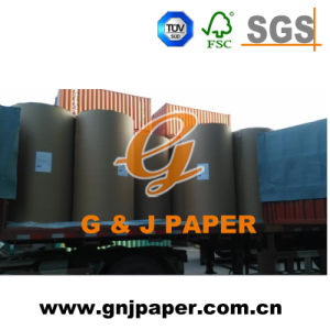 100% Wood Pulp White Woodfree Offset Paper Roll for Sale pictures & photos