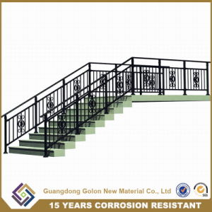 Luxurious Outdoor Wrought Iron Stair Railing for Building pictures & photos