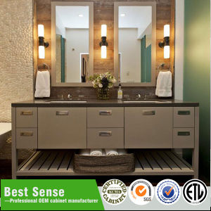 Hot Sale Wall Mounted Wooden Veneer Bathroom Furniture pictures & photos