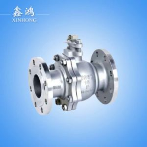 "304 Stainless Steel Hight Quality Flanged Ball Valve Dn150 6"" pictures & photos"