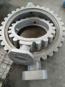 Butterfly Valve Sand Casting Wcb Material pictures & photos