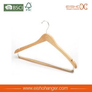 Contoured Body Wooden Clothes Suit Hanger (MC023) pictures & photos