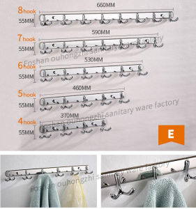 High Quality New Design Double Robe Hook for Kitchen (S-E) pictures & photos