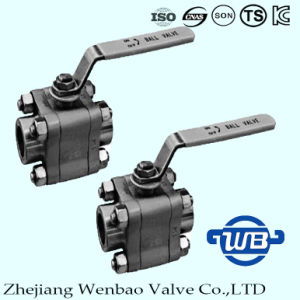 Wb-01 3PC High Pressure Ball Valve Lever Operated Ball Valve pictures & photos