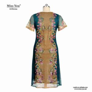 Miss You Ailinna 802077 Low Price Ladies Summer Casual Mesh Dress pictures & photos