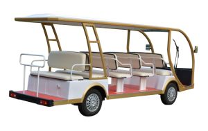 14 Seaters 48V 7.5kw Electric Sightseeing Car Vehicle Passenger Cars pictures & photos