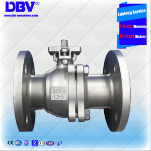 Industrial Dn50 CF8 Flange Floating Ball Valve pictures & photos