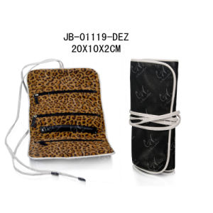 Leopard Pattern Lining Jewelry Roll Handbags for Woman pictures & photos