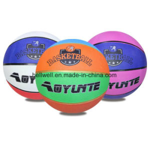 High Quality Rubber Colorful Rubber Basketball pictures & photos