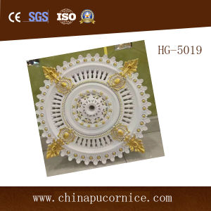 Factory Price Hollow PU Medallions / PU Lamp Holder for Chandelier in House pictures & photos